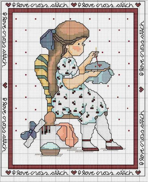 Схема вышивания крестом - Вышивальщица