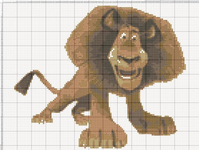 Схема вышивания крестом - Мадагаскар