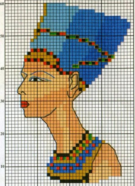 Схема вышивания крестом - Египетские мотивы