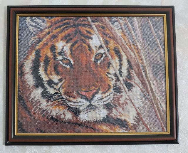 Тигр - моя схема вышивки