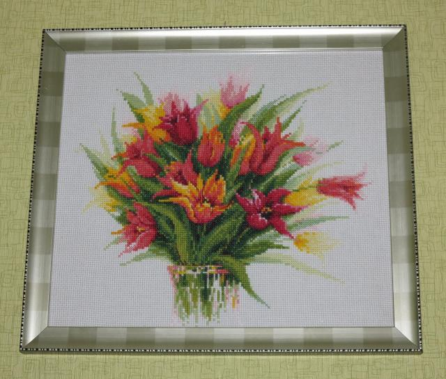 Букет тюльпанов - моя схема вышивки