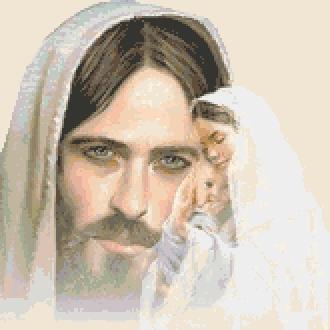 Схема вышивания крестом - Иисус