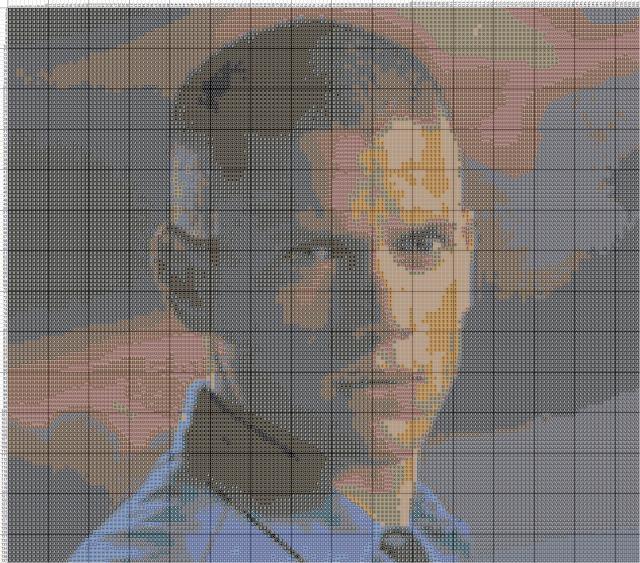Схема вышивания крестом - Вентворт Миллер
