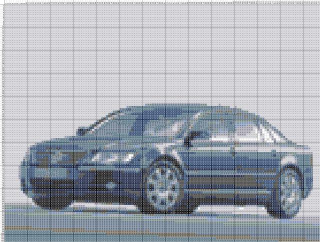 Схема вышивания крестом - Volkswagen Passat