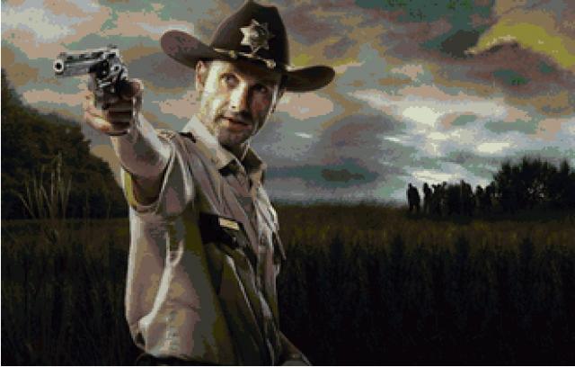 Схема вышивания крестом - The Walking Dead