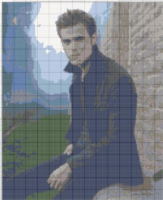 Схема вышивания крестом - Пол Уэсли.