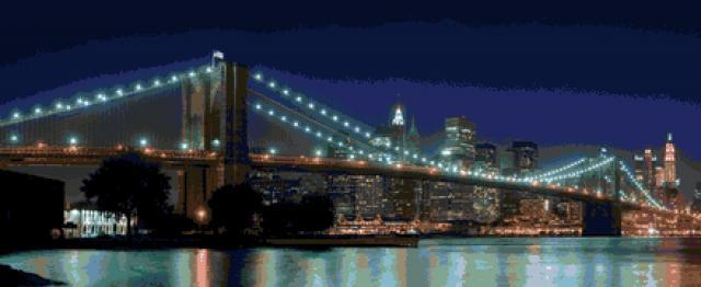 Схема вышивания крестом - Бруклинский мост