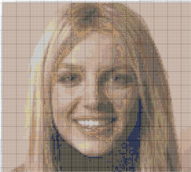 Схема вышивания крестом - Бритни Спирс