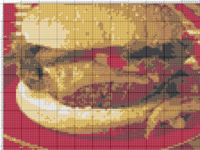 Схема вышивания крестом - Чизбургер
