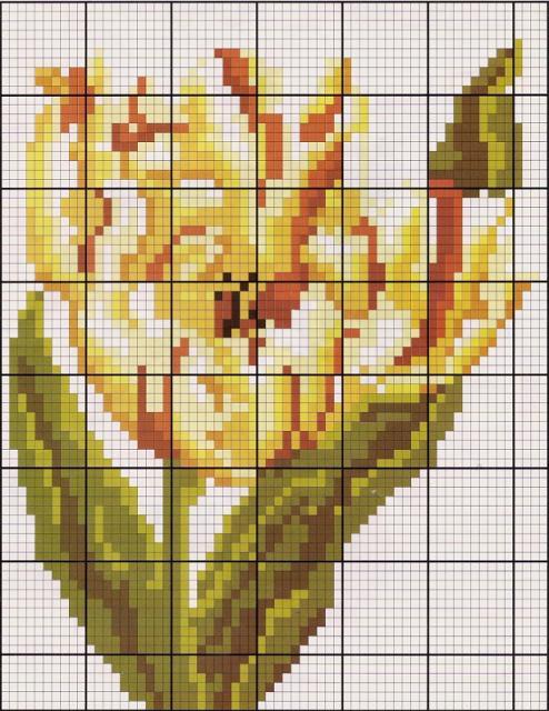 Схема вышивания бисером - Цветок