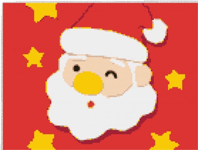 Схема вышивания крестом - Дед Мороз