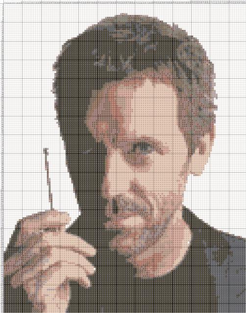 Схема вышивания крестом - Доктор Хаус