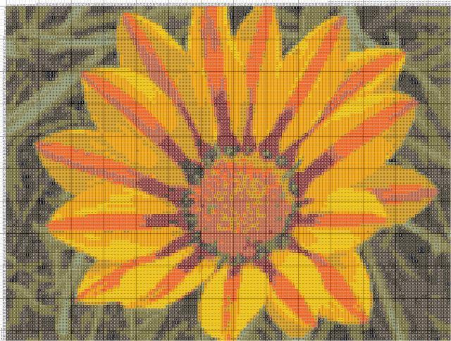 Схема вышивания крестом - Гацания