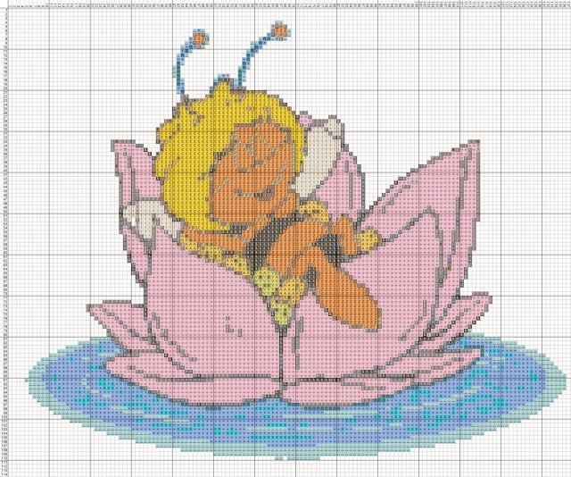 Схема вышивания крестом - Пчела Майя