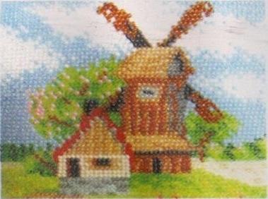 Схема вышивания бисером - Ветряная мельница