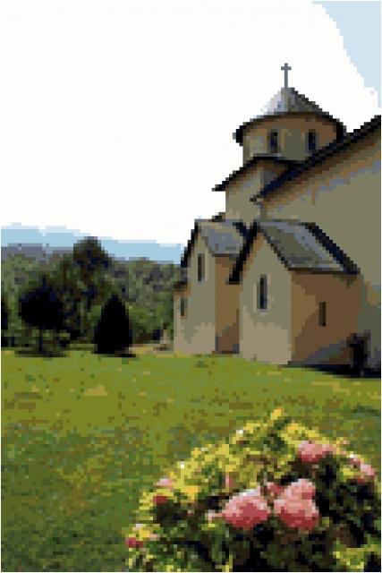 Схема вышивки крестом - Монастырь Морача Черногория