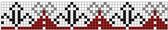 Схема вышивания крестом - Узор на полотенце