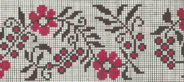 Схема вышивания крестом - Орнамент для рушника