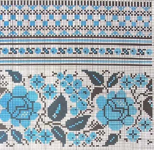 Схема вышивания крестом - Орнамент на полотенце