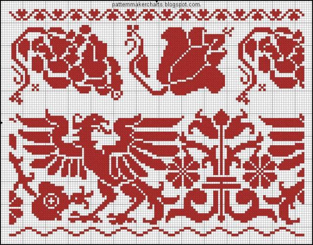 Схема вышивания крестом - Орнамент