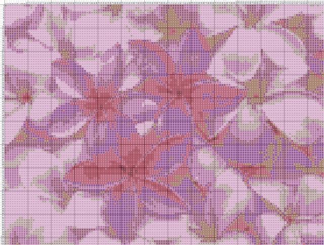Схема вышивания крестом - Плюмерия