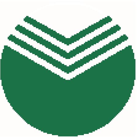 Схема вышивания крестом - Символ сбербанка