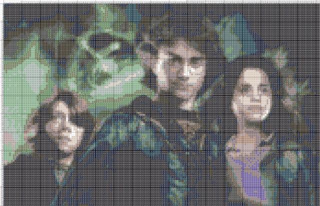 Схема вышивания крестом - Гарри Поттер
