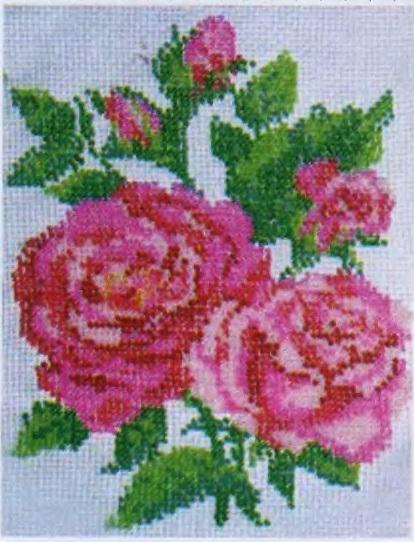 Схема вышивания бисером - Розы