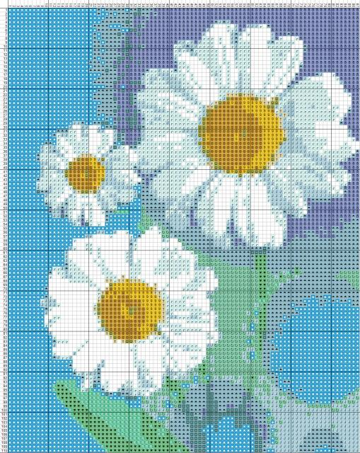 Схема вышивания крестом - С праздником Весны!