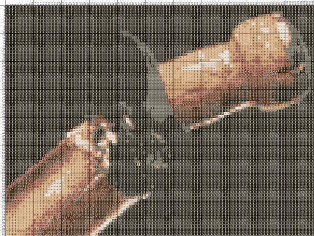 Схема вышивания крестом - Шампанское
