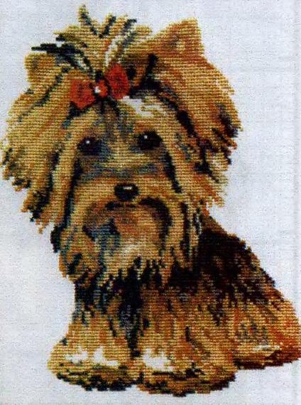 Схема вышивания бисером - Собака