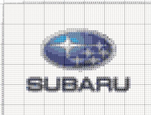 Схема вышивания крестом - логотип Subaru